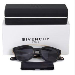 GIVENCHY Round Black Gold Shades Sunglasses